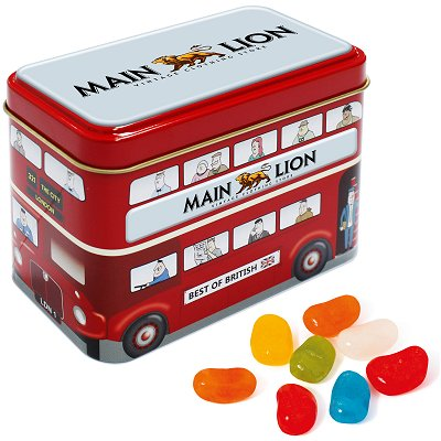 Bus Sweet Tin with Jelly Beans
