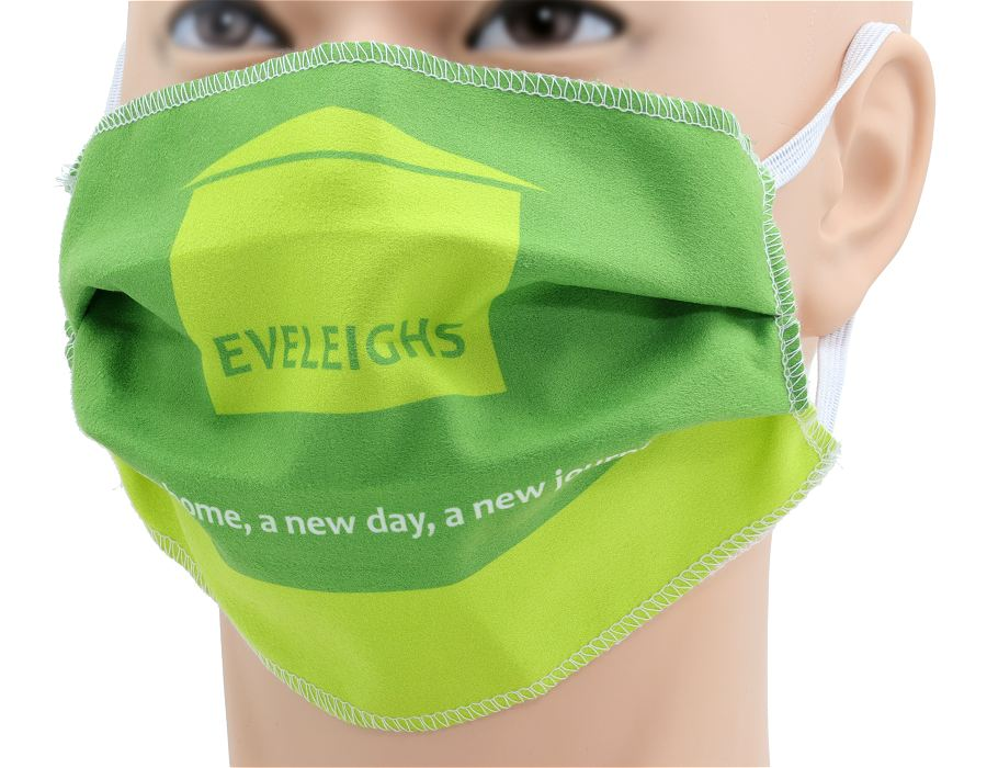 Printed Face Covering in Microfibre Fabric