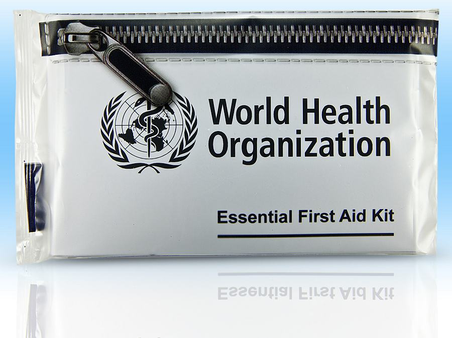 World Health Organization Printed Hygiene Packs