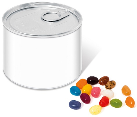 Jelly Bean Mini Ring Pull Tin with blank wrap for logo customisation