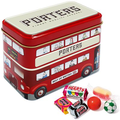 Promotional Bus Tin of Retro Sweets