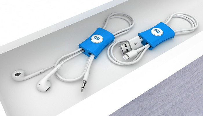 Cable Tidy Snappi™ blue pair