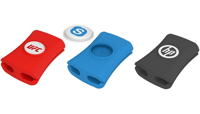 Cable Tidy Snappi™ in red blue and black