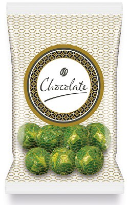 Promotional Chocolate Sprouts Printed Label Flow Bag