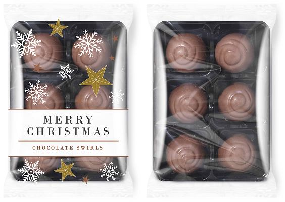 Promotional Christmas Chocolate Swirls