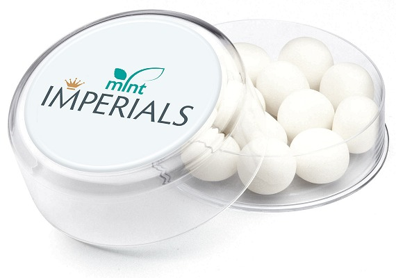 Promotional Mint Imperials in Maxi Round Pots