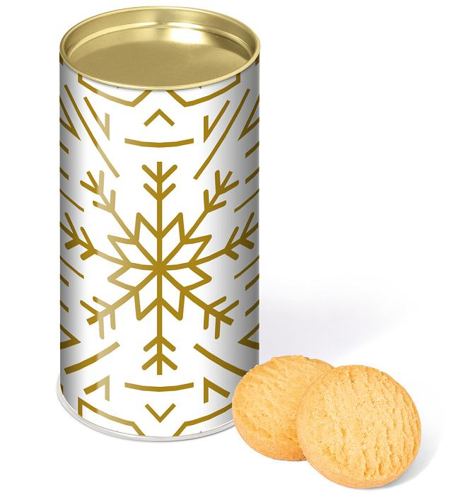 Promotional Shortbread Biscuits in a Snack Tube
