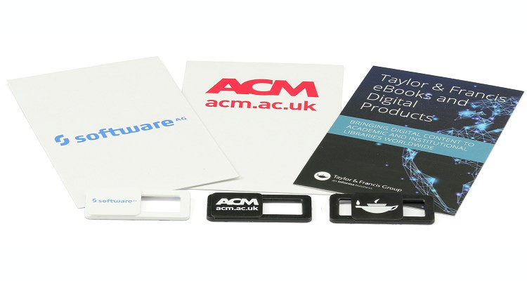 Branded & Promotional Webcam Covers includes logo printed cards