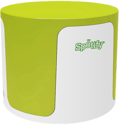 Wireless Speakers Lime Green on White