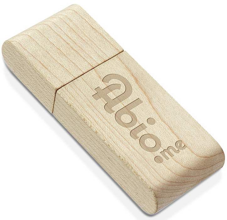Engraved Maple USB Stick