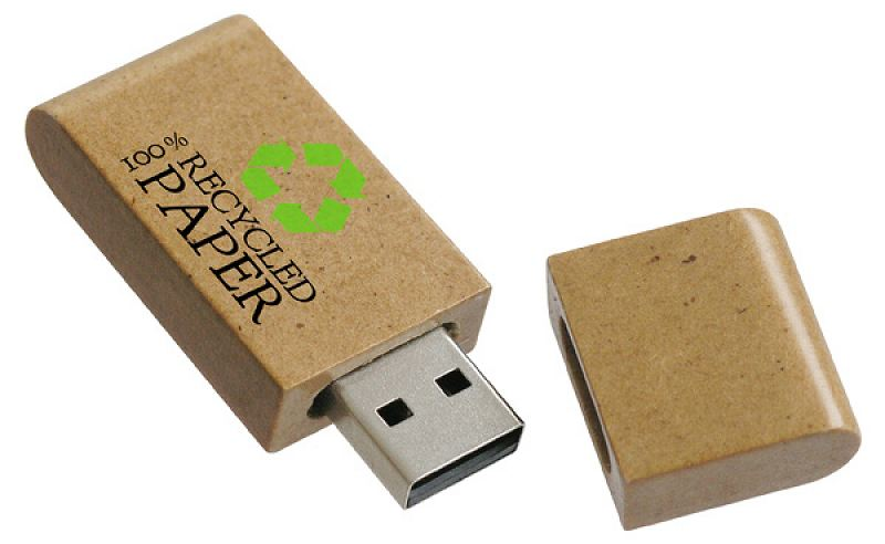 Wood & Recycled Paper USB Flash Drive