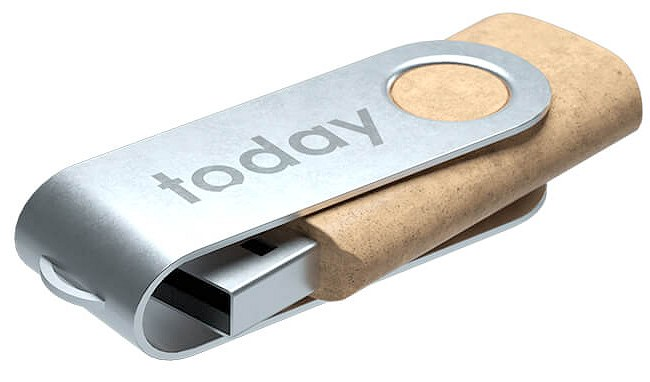 Recycled Plastic Twister USB Stick engraved