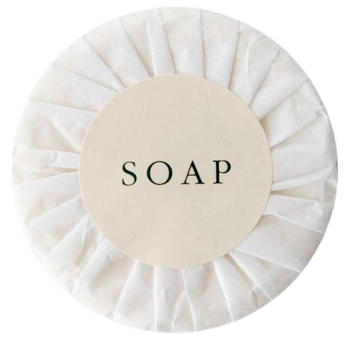 Round Soap Bar 15g Paper Wrapped with Label
