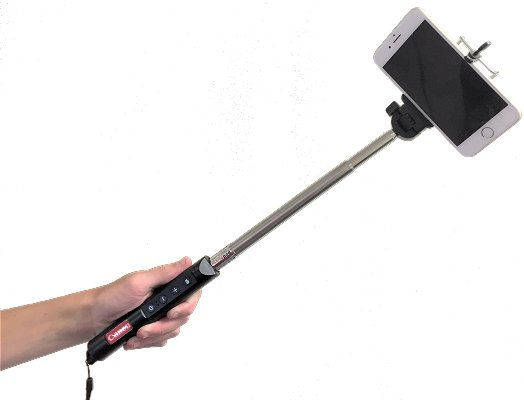 Partly extended Selfie Stick