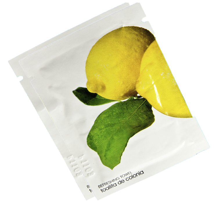 Towel Wipe Personal Cleaning Sachets Refreshing Lemon