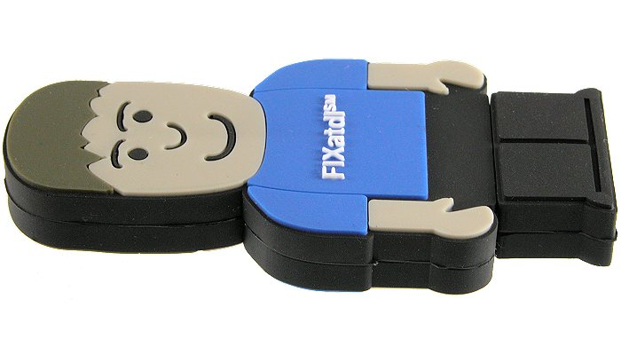 USB Man memory stick front angled